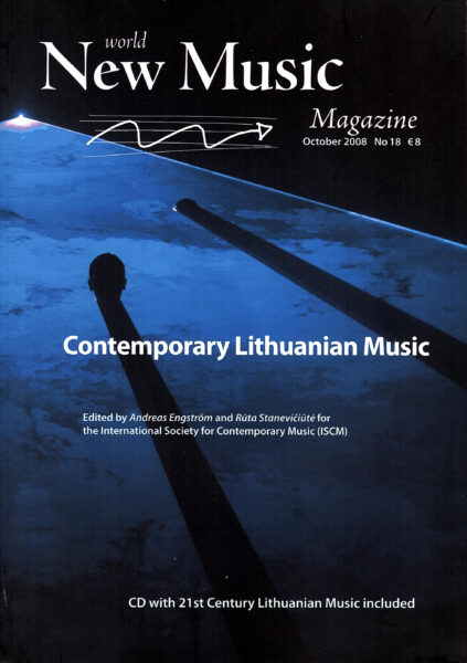 Cover for World New Music Magazine, Issue #18 - Lithuania
