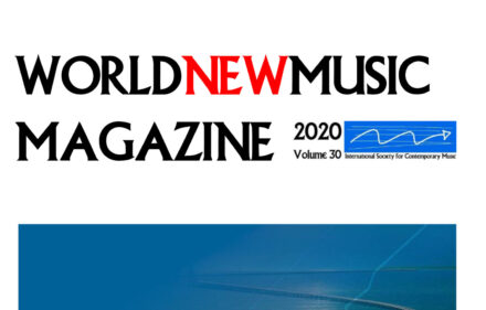 The Cover of World New Music Magazine #30 2020