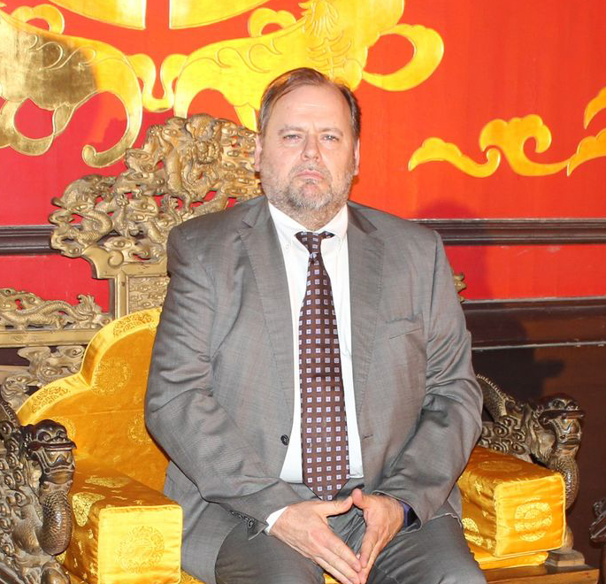Walter De Schepper in Beijing (2018) Photo by Anna Dorota Władyczka.